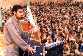 عکس قديمي از حاج قاسم سليماني در جبهه